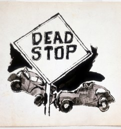 andy warhol dead stop 1958 ink on paper [ 1283 x 1080 Pixel ]