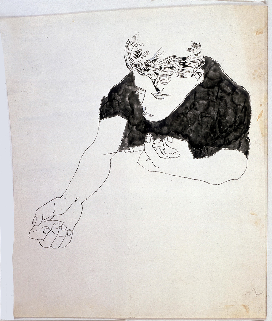 medium resolution of andy warhol the nation s nightmare 1951 ink on paper