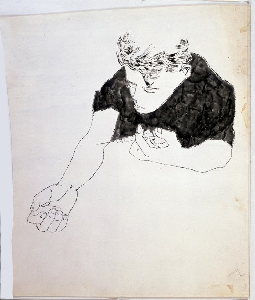 small resolution of andy warhol the nation s nightmare 1951 ink on paper