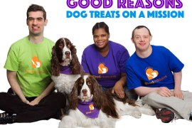 Good Reasons makes all natural dog treats while employing individuals with autism and other developmental disabilities. Check out our interview with this great company as well as ENTER A GIVEAWAY!