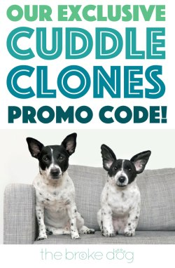 Want a custom plush stuffed animal that looks exactly like your dog? Cuddle Clones makes one-of-a-kind keepsakes that will make you do double-takes! Plus, we've teamed up with this great company to bring you an exclusive Cuddle Clones promo code!