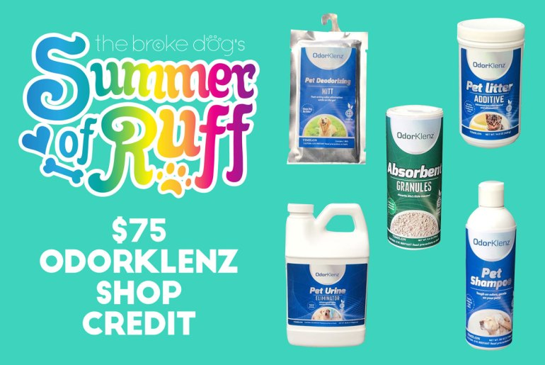 This week, we're giving away a $75 credit to the OdorKlenz shop, where you buy chemical-free odor neutralizers that are safe for both people and pets.