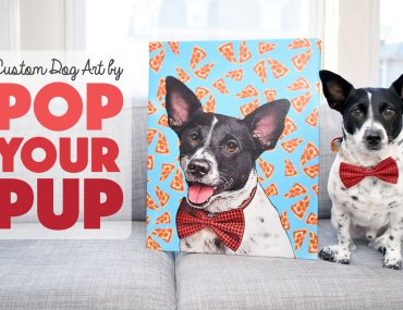 If you're anything like me, you love having your pup's photo everywhere! Pop YourPup offers fabulous custom dog art printed on wrapped canvas or apparel. We had the chance to review Pop Your Pup's Medium Canvas and Ladies Sporty V-Neck — read and watch what we thought!(Spoiler Alert: they made Henry's tail wag!)