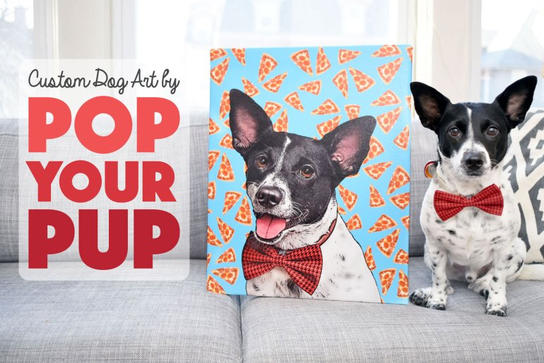 If you're anything like me, you love having your pup's photo everywhere! Pop Your Pup offers fabulous custom dog art printed on wrapped canvas or apparel. We had the chance to review Pop Your Pup's Medium Canvas and Ladies Sporty V-Neck — read and watch what we thought! (Spoiler Alert: they made Henry's tail wag!)