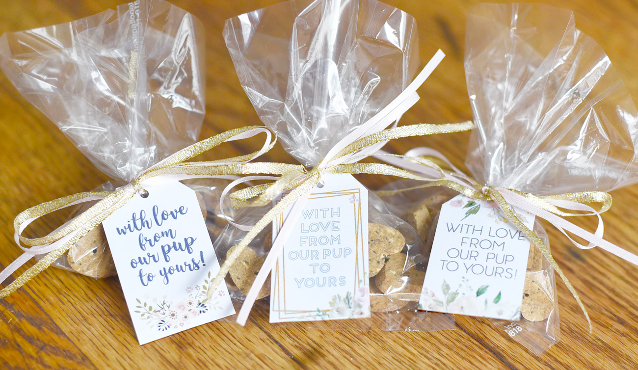 free printable tags for dog treat wedding favors