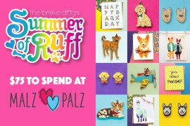 Enter to win $75 to spend at Malz Palz, a New York-based shop that sells the most adorable pins, earrings, greeting cards, and prints!