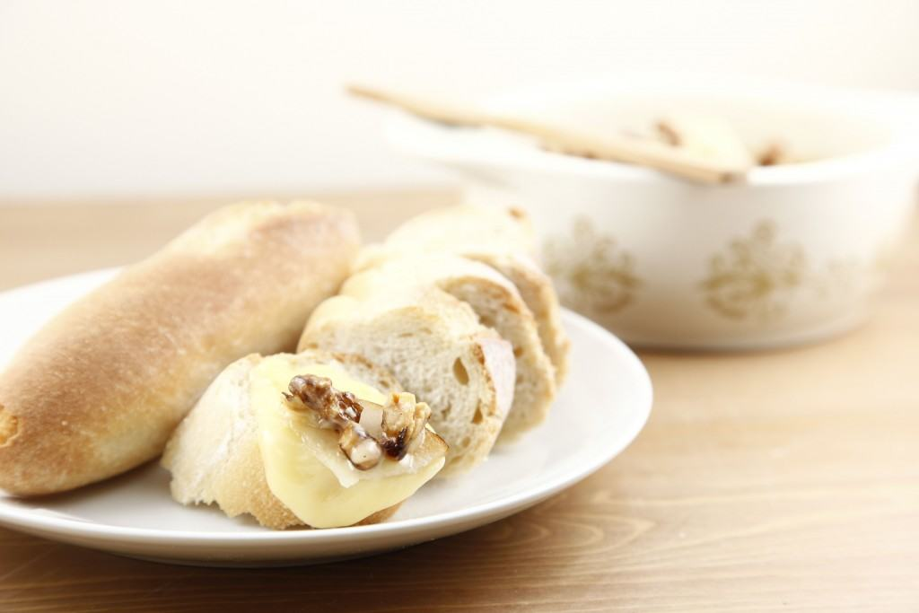Pear-Walnut Baked Camembert