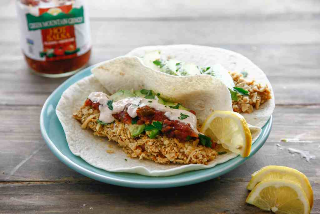 Tortilla Crusted Fish Tacos