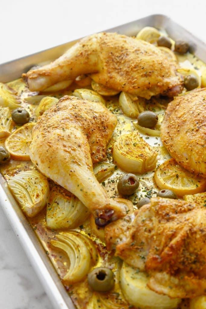 Sheet Pan Moroccan Chicken
