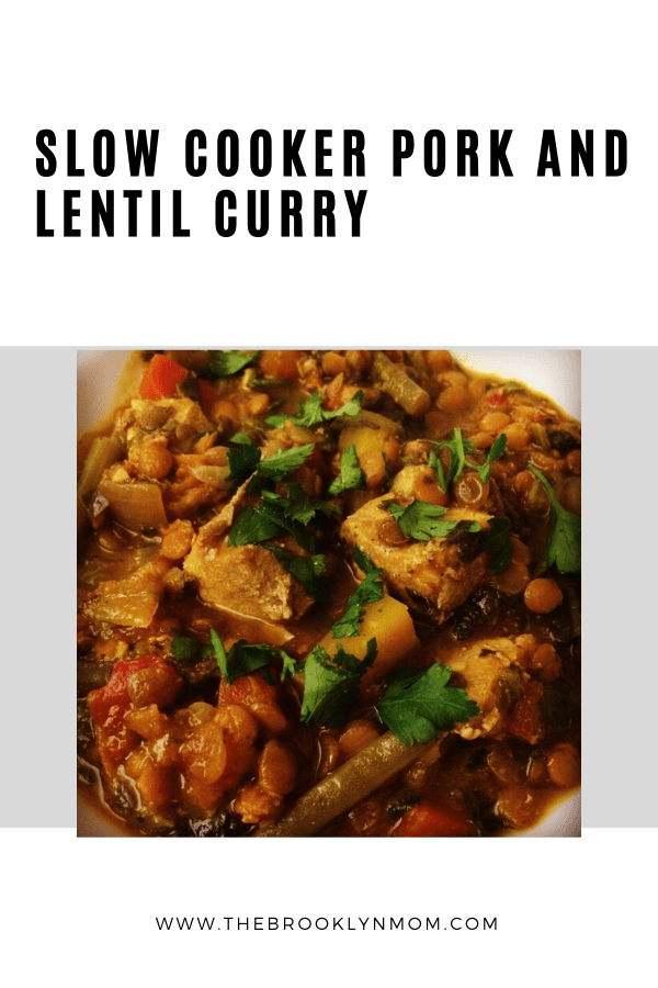 Slow Cooker Pork and Lentil Curry