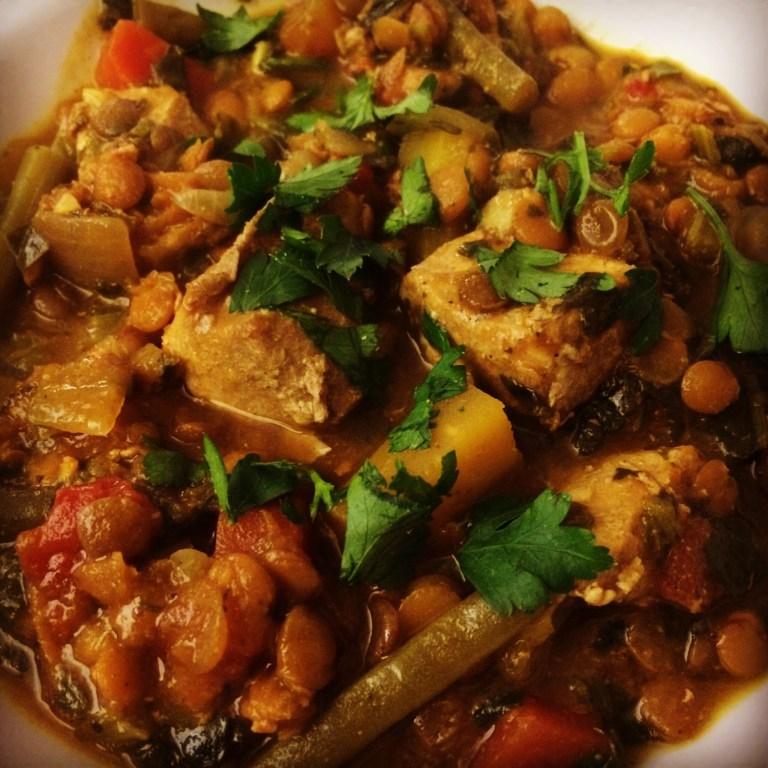 Slow Cooker Pork and Lentil Curry