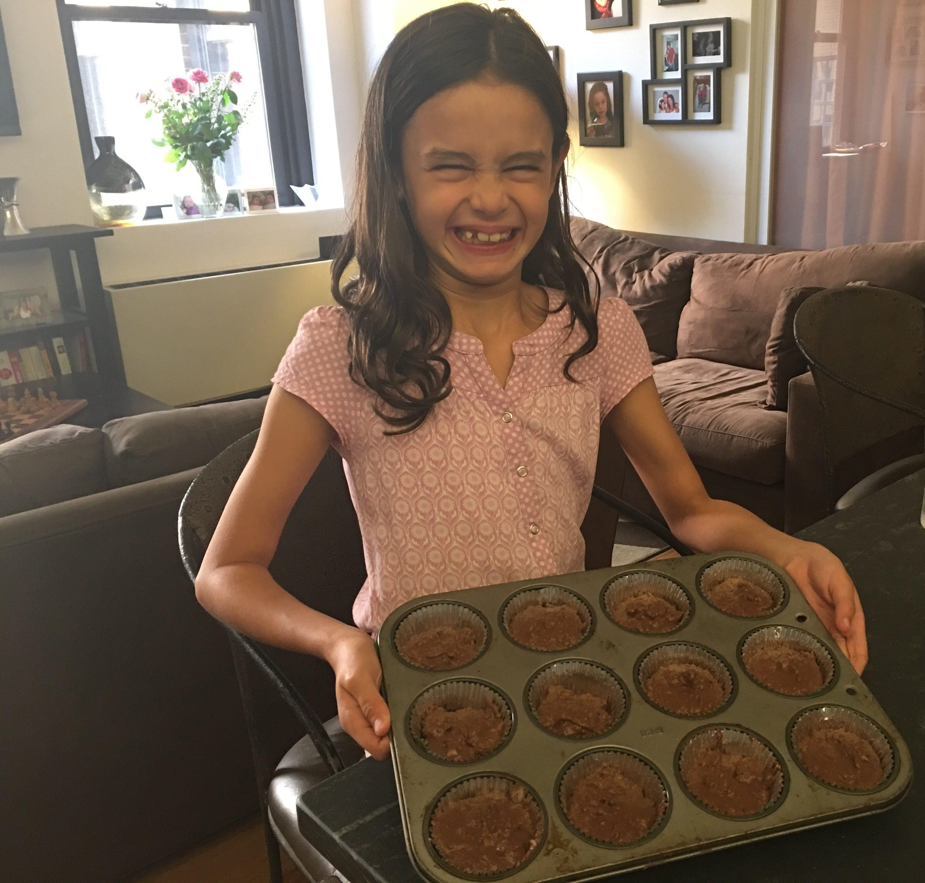 Baking Zucchini Brownie Cupcakes