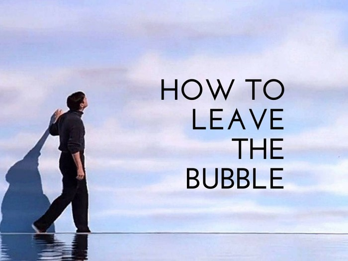 How To Leave The Bubble
