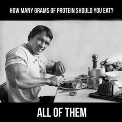 how many grams of protein should you eat meme