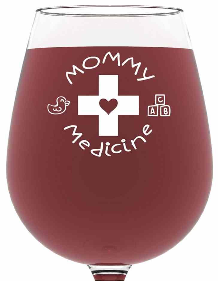 wine glass gift idea