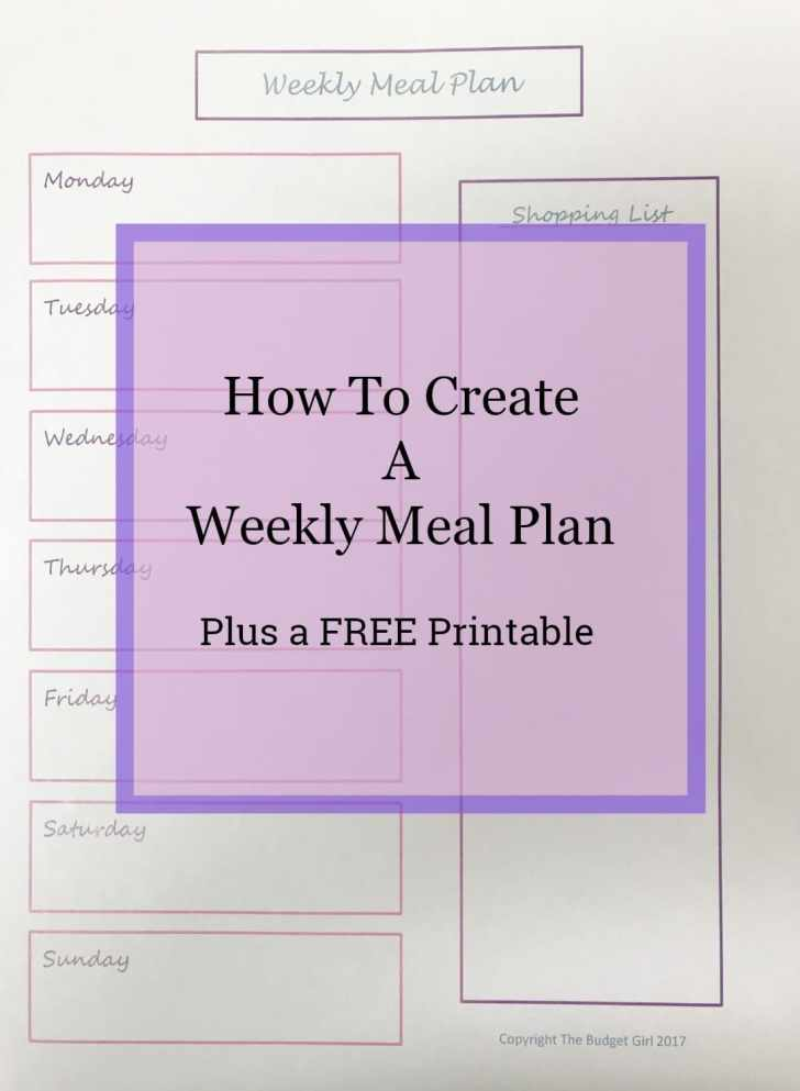 create meal plan