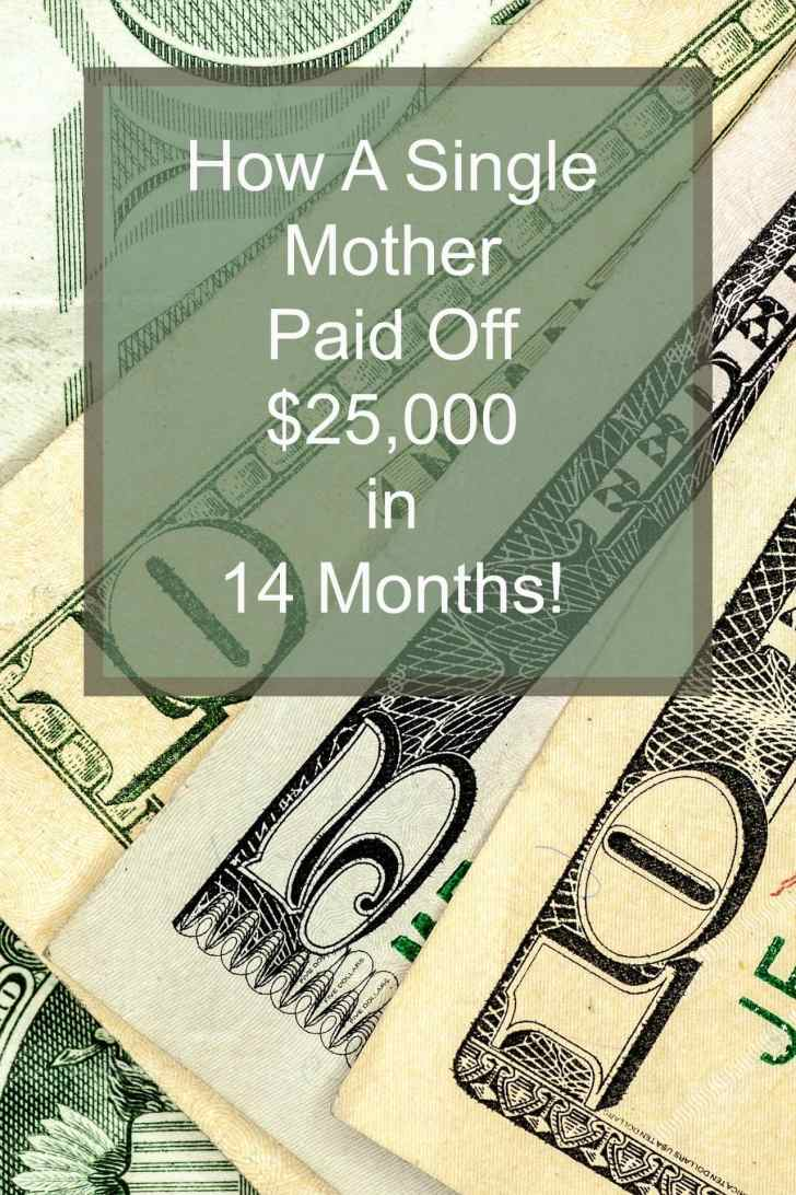 single mother paid off debt
