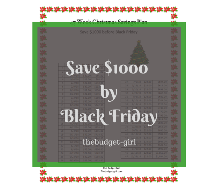 savings plan for christmas