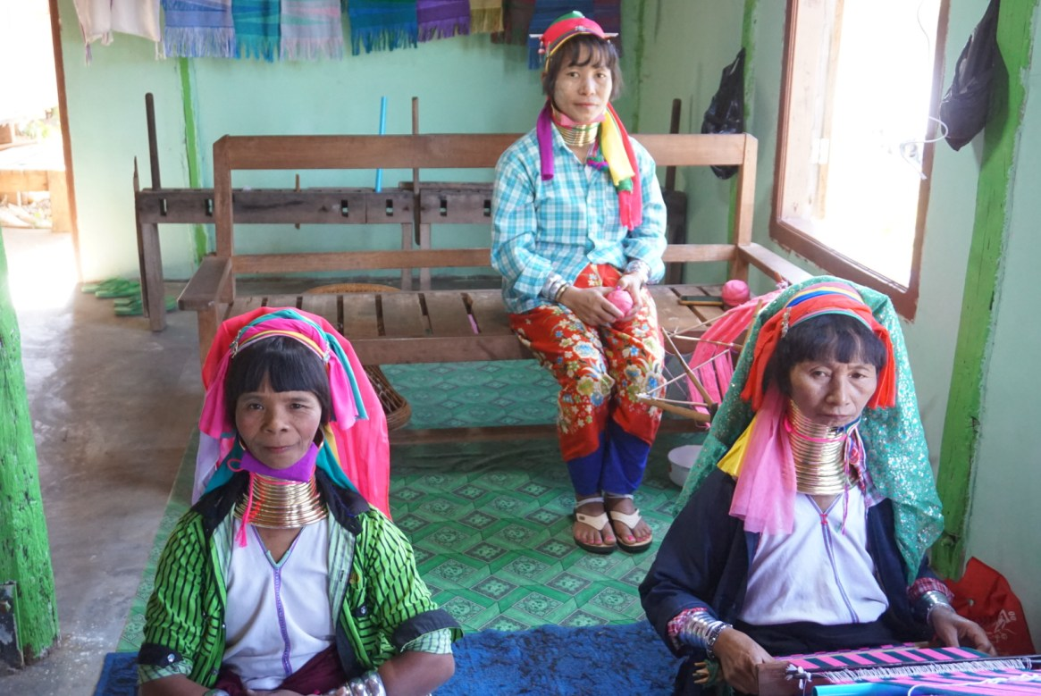 Long-necked women of Kayan tribe