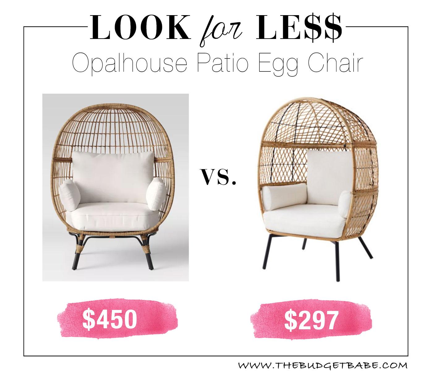 budget friendly egg chair patio furniture
