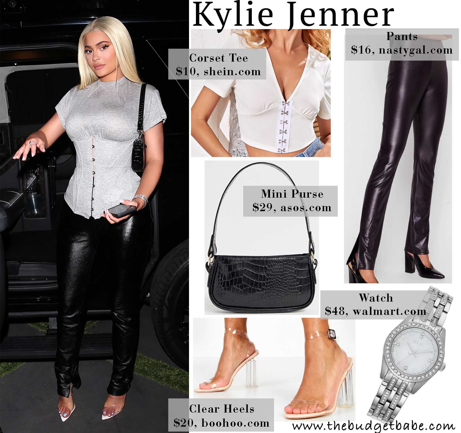Photo of Get the Look: Kylie Jenner's Corset Tee and Leather Pants