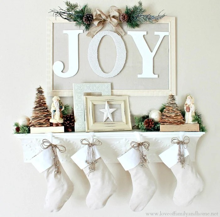 DIY Christmas Mantel Decorating Ideas The Budget Decorator