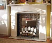 DIY Faux Fireplace  The Budget Decorator