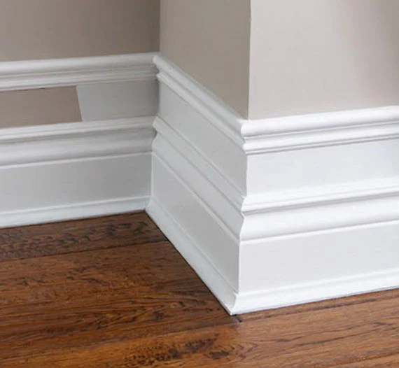 Installing Baseboard Trim On Two Different Floor Levels