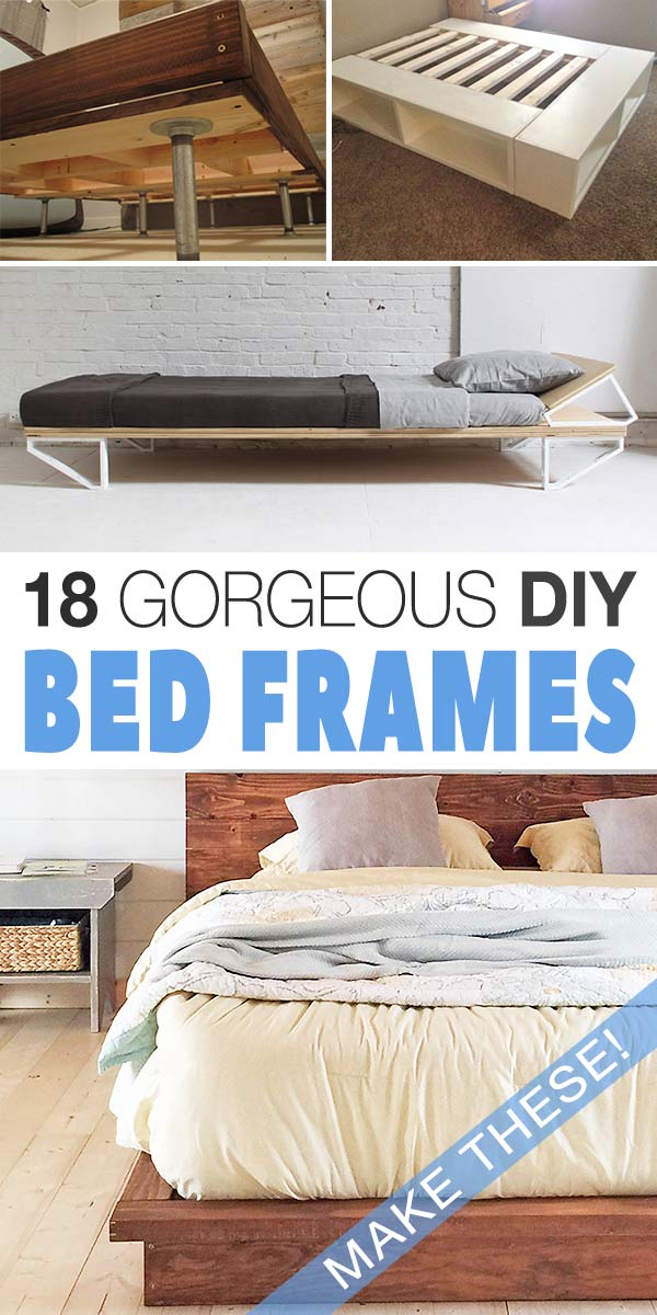 18 gorgeous diy bed frames the budget