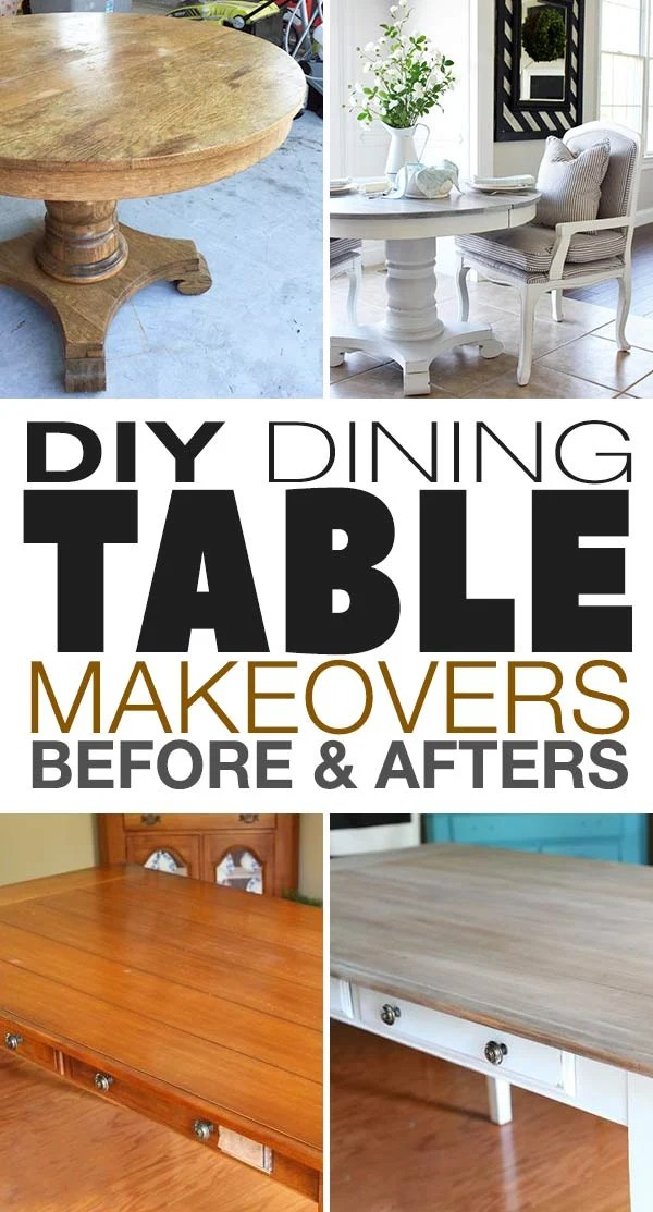 diy dining table makeovers before