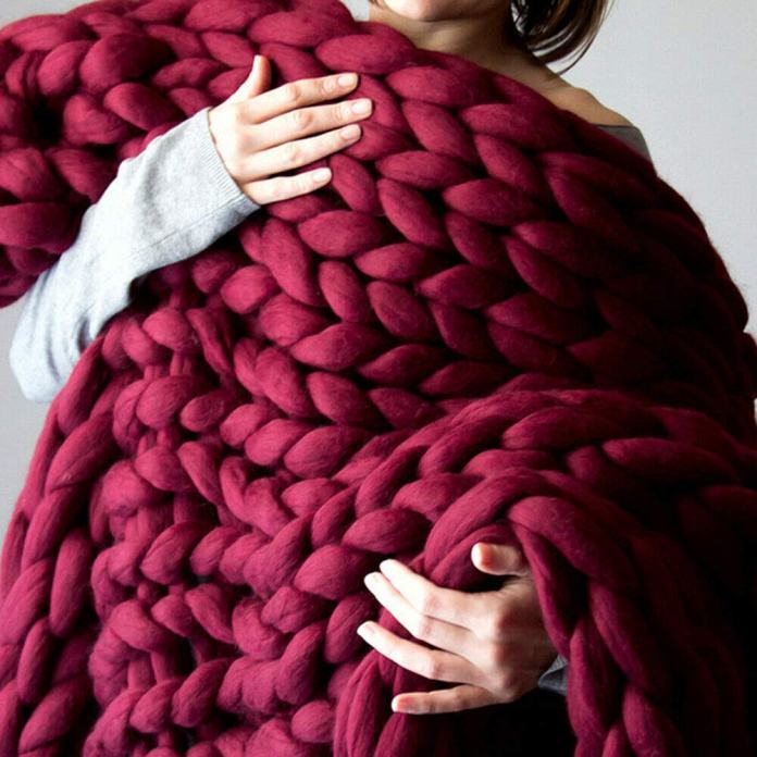 How To Make A Chunky Knit Blanket The Budget Decorator