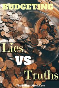Budgeting Lies VS Truths - Pinterest Pin