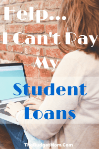 Help I Can't Pay My Student Loans - Pinterest Image