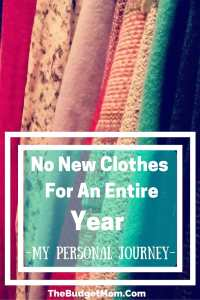 No New Clothes For An Entire Year - Pinterest Pin