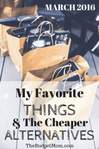 My Favorite Things & The Cheaper Alternatives Pinterest Pin