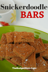 Snickerdoodle Bars Pinterest Pin