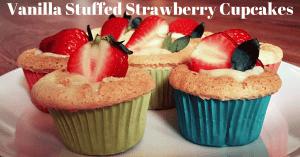 Vanilla Stuffed Strawberry Cupcakes Facebook