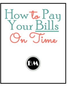 How To Pay Your Bills On Time Picture 11