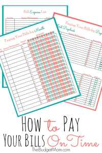 Pay Bills On Time Pinterest