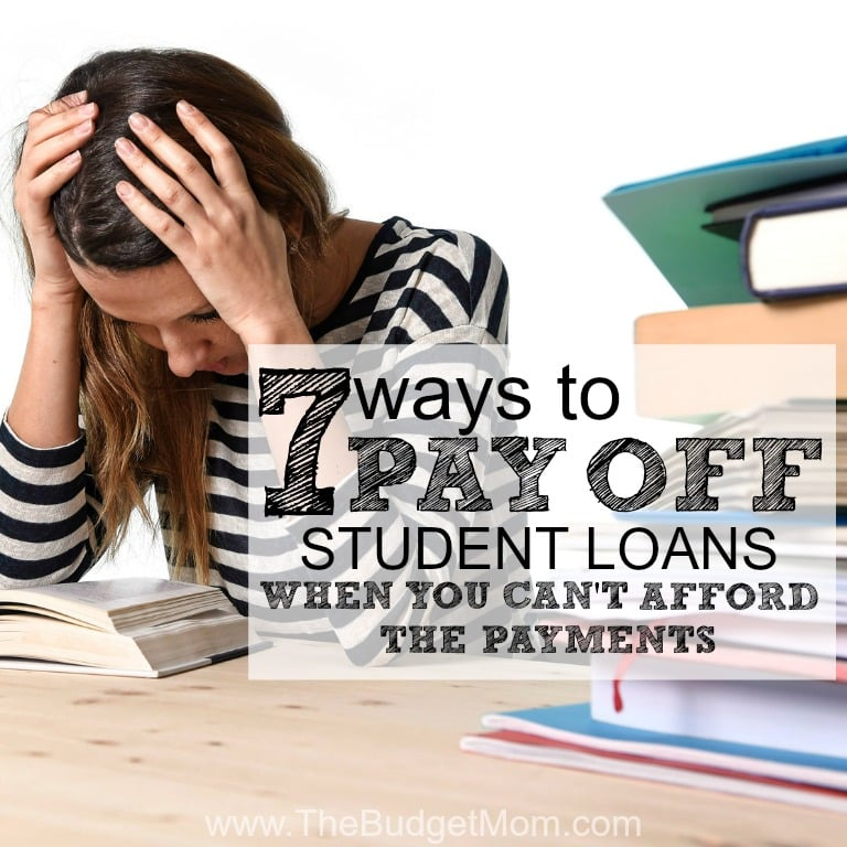 Getting your first student loan bill in the mail can be a very scary thing. It's that moment where you realize you just can't afford it. The amount you see in the mail is not set in stone, and in most cases can be reduced. Click to read about 7 ways to pay off your student loans even when you can't afford your current monthly bill.