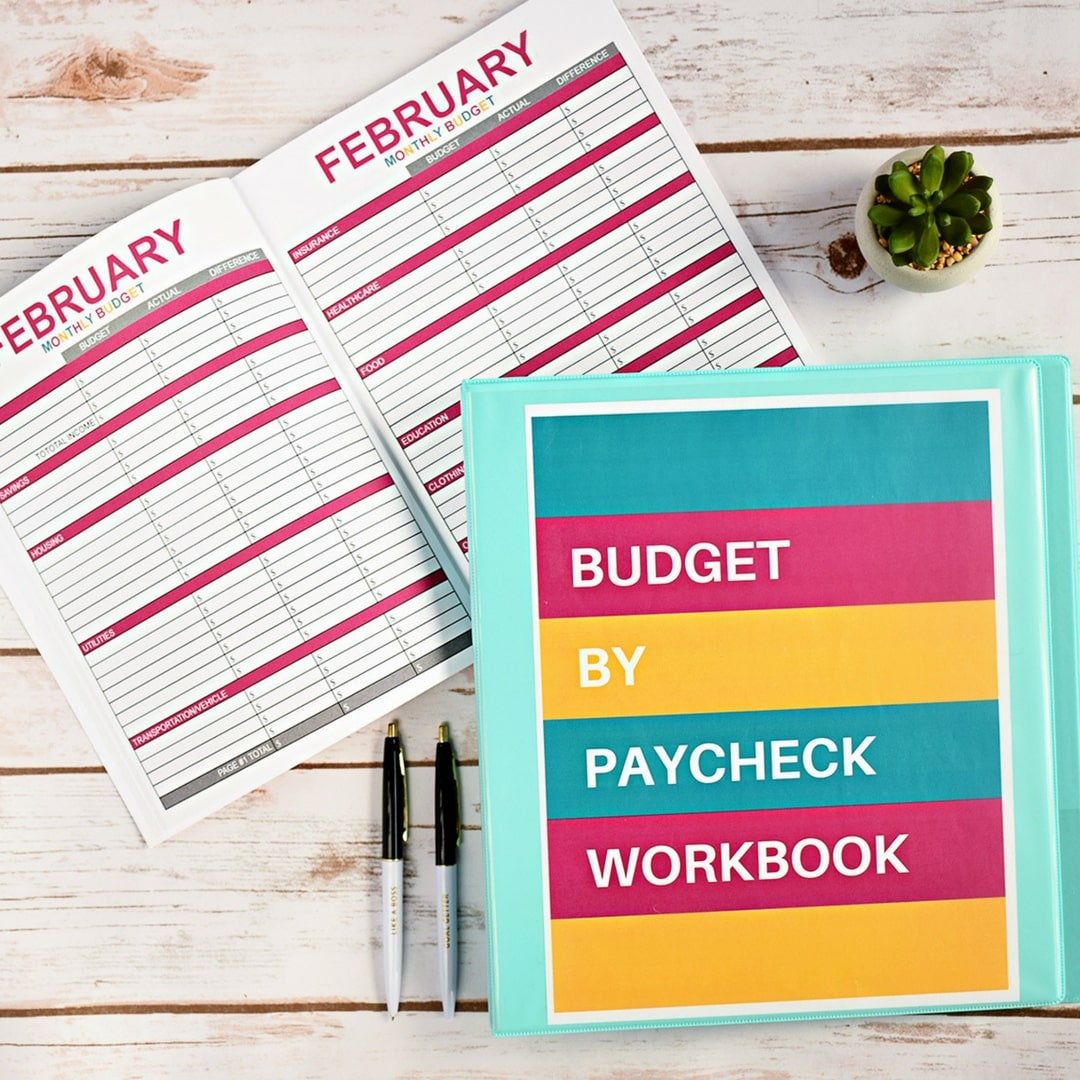 Budget By Paycheck Purple Teal Workbook Digital Download