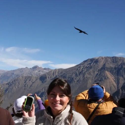 Viewing condors and geocaching at Colca Canyon, Peru