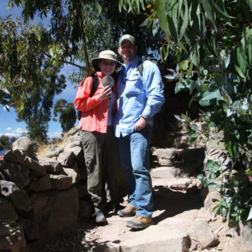 One of the most remote geocaches that we have ever found! It was on the island of Taquile in Lake Titicaca, Peru