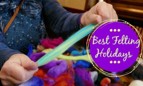 Best Felting Class Holiday Workshop Retreat | Master the Technical Skills in Felting