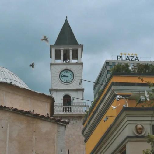 A charming Albanian clock tower