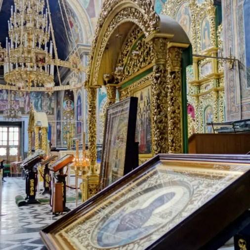 Chisinau Moldova St. Theodor Tiron Convent Inside