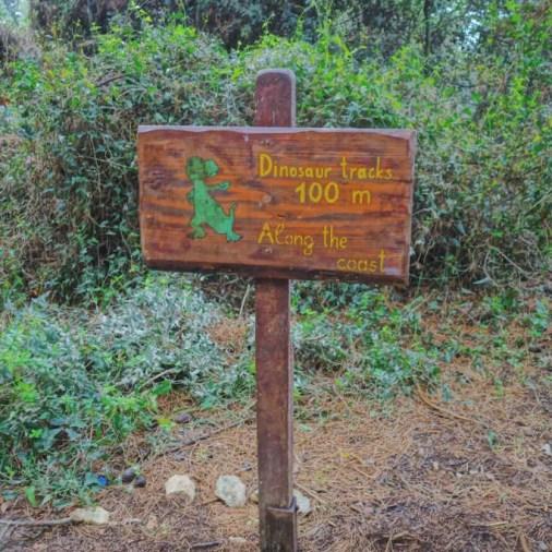Istria Croatia Gracko Park 100 Meters to Dinosaur Prints Sign
