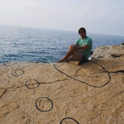 Istria Croatia Kamenjak Peninsula Dinosaur Footprints Outlines