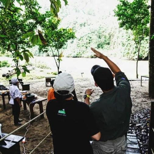 Viewing Howler Monkeys Over Breakfast Borneo Rainforest Lodge