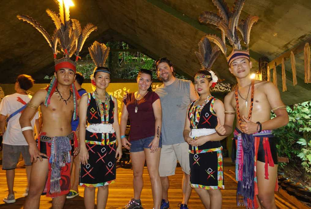 exploring borneo island Mari Mari Cultural Village Entertainment